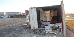 Sivas'ta tanker ile kamyonet çarpıştı: 2 yaralı