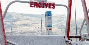 Erciyes'te kar yağışı