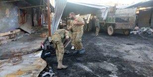 Suriye Milli Ordusu, Rasulayn'da yolları temizliyor