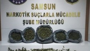Samsun'da 14 kilo 400 gram esrar ele geçirildi