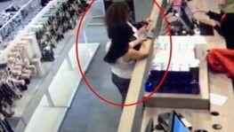 Hırsızlık zanlısı kadın çaldığı telefonlarla yakalandı