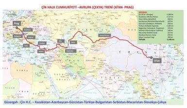Çin'den gelen ilk yük treni, Marmaray'dan geçip Prag'a ulaşacak