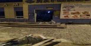 ATM hırsızları AVM'yi havaya uçurdu