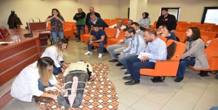 İzmit Belediyesi personeline ilk yardım eğitimi