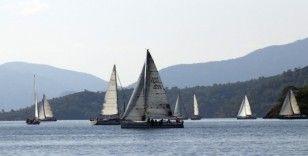 Yelkenli yatlar Fethiye'de yarıştı