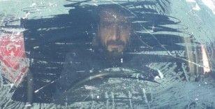 Kars'ta inşaat işçilerin soğukla mücadelesi