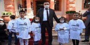 Lösemili çocuklardan Bilecik Belediyesine ziyaret