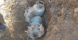 Van'da PKK'ya ait 2'si EYP ile tuzaklanmış 3 büyük tüp ele geçirildi
