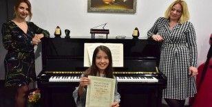 Gaziantepli Beren'den piyanoda uluslararası başarı