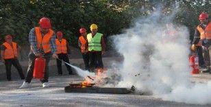 Kartal Belediyesi, yangın önleme eğitimlerine devam ediyor