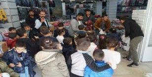 İstanbul'dan Batman'a gelip yetim ve öksüz çocukların yüzünü güldürdüler
