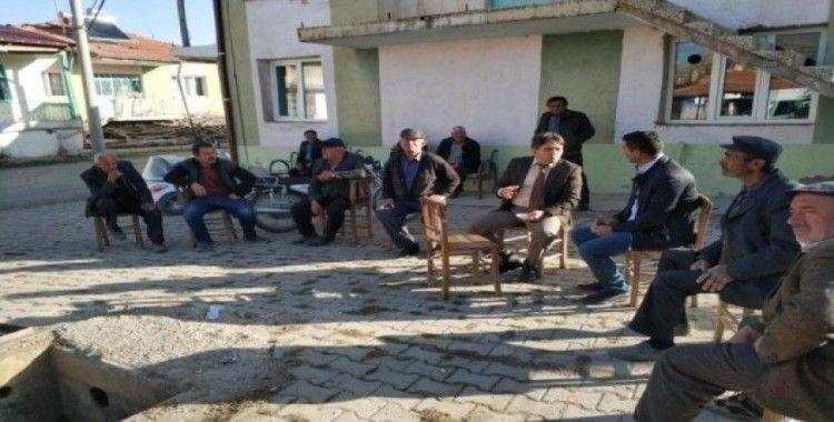 Kaymakam Kaya köy halkının sorunlarını dinledi