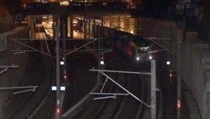 İstanbul Boğazı'ndan ilk yük treni geçti