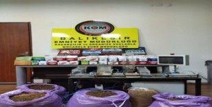 Balıkesir'de kaçak tütün operasyonu