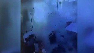 Çobanbey'de bomba yüklü araç patladı