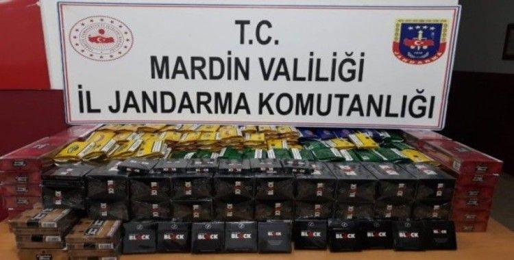 Mardin'de yolcu otobüsünde kaçak tütün ürünü ele geçirildi