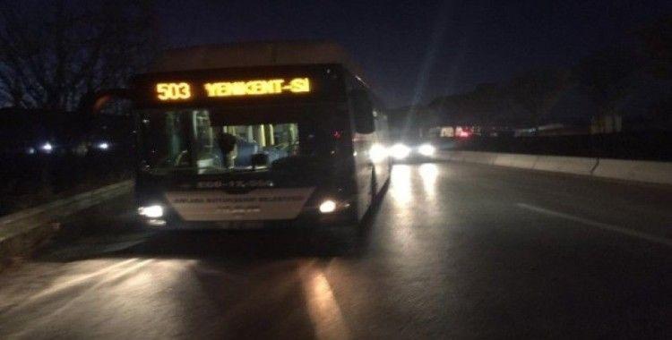Başkent'te iki otobüs çarpıştı: 1 yaralı