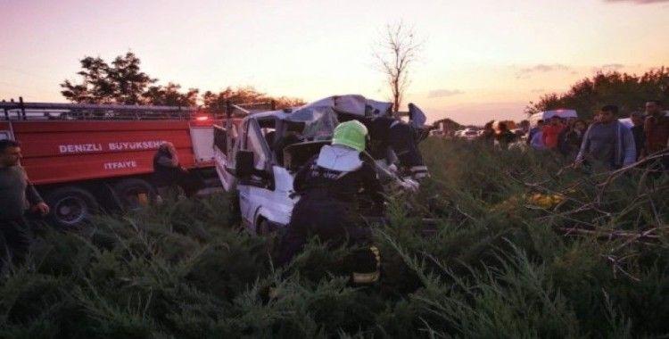 Denizli'de takla atan otomobil dehşet saçtı: 1 ölü, 2 yaralı