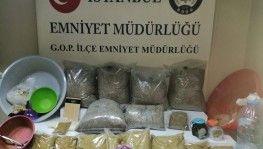 İstanbul uyuşturucu operasyonu, 22 kilo bonzai ele geçirildi