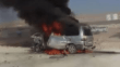El Bab'da bomba yüklü araç patladı