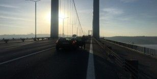 15 Temmuz Şehitler Köprüsü'nde Ata'ya saygı duruşu