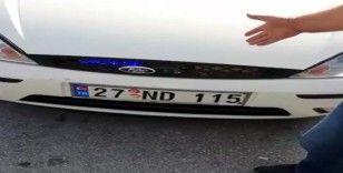 Gaziantep'te çakar lamba kullanan sürücüye para cezası