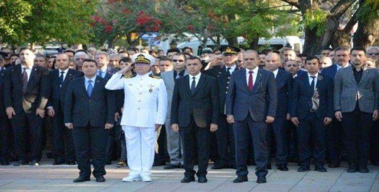 Ortaca'da 10 Kasım Atatürk'ü anma töreni