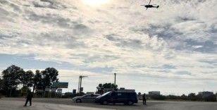 Jandarma'dan helikopterli trafik denetimi