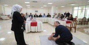 Battalgazi Belediye personeline ilk yardım eğitimi verildi