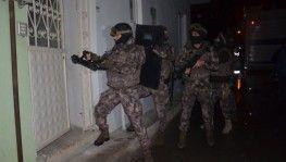 Hava destekli bin polisle ''Narko-Terör''operasyonu