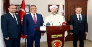 Diyanet İşleri Başkanı Prof. Dr. Ali Erbaş, Vali Aykut Pekmez'le bir araya geldi
