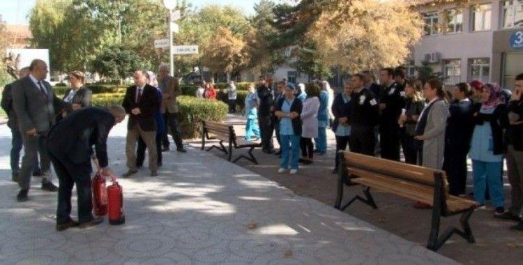 Kayseri Devlet Hastanesi'nde 'Yangın' eğitimi