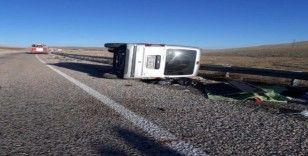 Sivas'ta trafik kazası: 1 ölü 6 yaralı