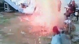 Ateşin etrafında oturuyorlardı, patlamayla neye uğradığını şaşırdılar
