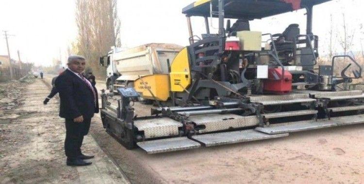 Hisarcık'ta sıcak asfalt çalışması