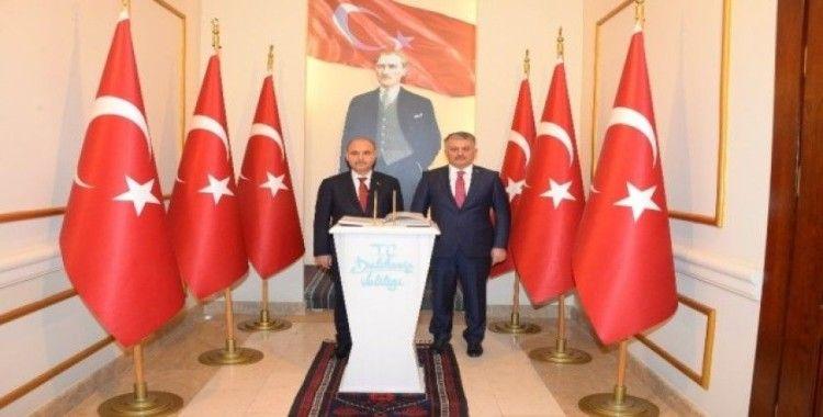 Emniyet Genel Müdürü Mehmet Aktaş, Balıkesir Valisi Ersin Yazıcı'yı ziyaret etti