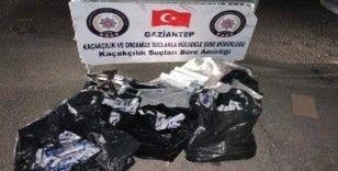 Gaziantep'te 970 paket kaçak sigara ele geçirildi