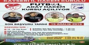 Futbol aday hakem kursu açılıyor