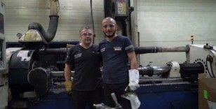 Metal işçilerinden ustalarına saygı duruşu