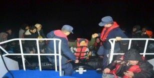 Balıkesir açıklarında 34 düzensiz göçmen yakalandı