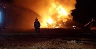 İsrail'de askeri helikopter alev alev yandı