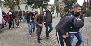 Samsun'da uyuşturucudan gözaltına alınan 6 kişi adliyeye sevk edildi