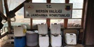 Mersin'de 170 litre sahte içki ele geçirildi
