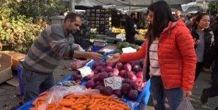 Denizli'de meyve fiyatları düştü sebze fiyatları arttı