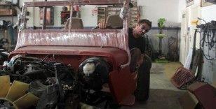 Gökhan usta eski araçları off-road yarış arabalarına dönüştürüyor