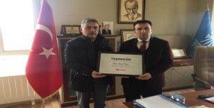 Türkiye Gazetesi'nden Palandöken Belediyesine teşekkür belgesi