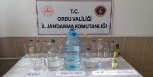 Ordu'da kaçak içki imalathanesine baskın