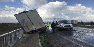 Kontrolden çıkan kamyonet karşı şeride geçti: 1 yaralı