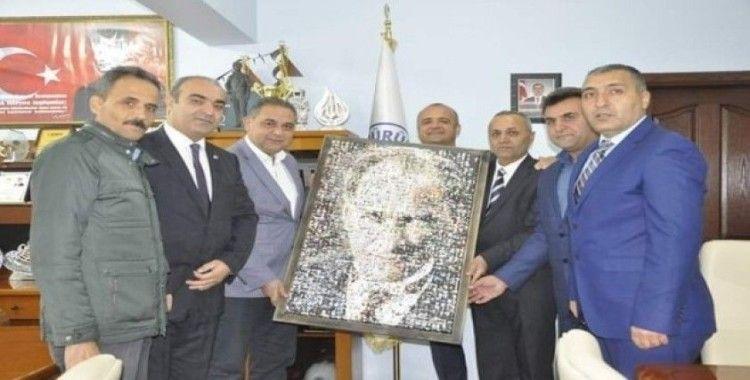 Bağlıçay köyü Dernek Başkanı Özülüş'ten Başkan Çiftçi'ye ziyaret