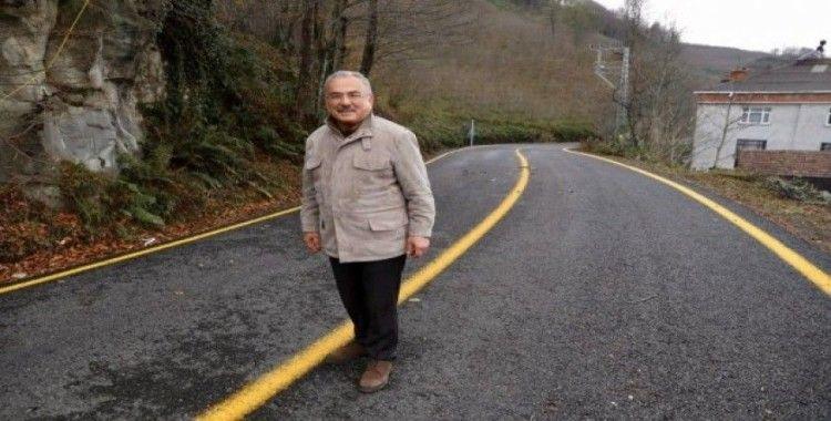 50 yıllık yol ilk kez asfalt gördü